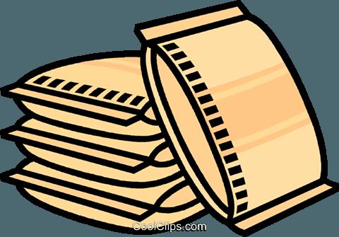 480x335 Bag Of Concrete Royalty Free Vector Clip Art Illustration