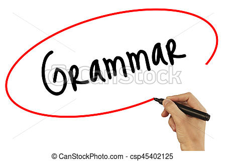 450x320 Man Hand Writing Grammar With Black Marker On Visual Screen