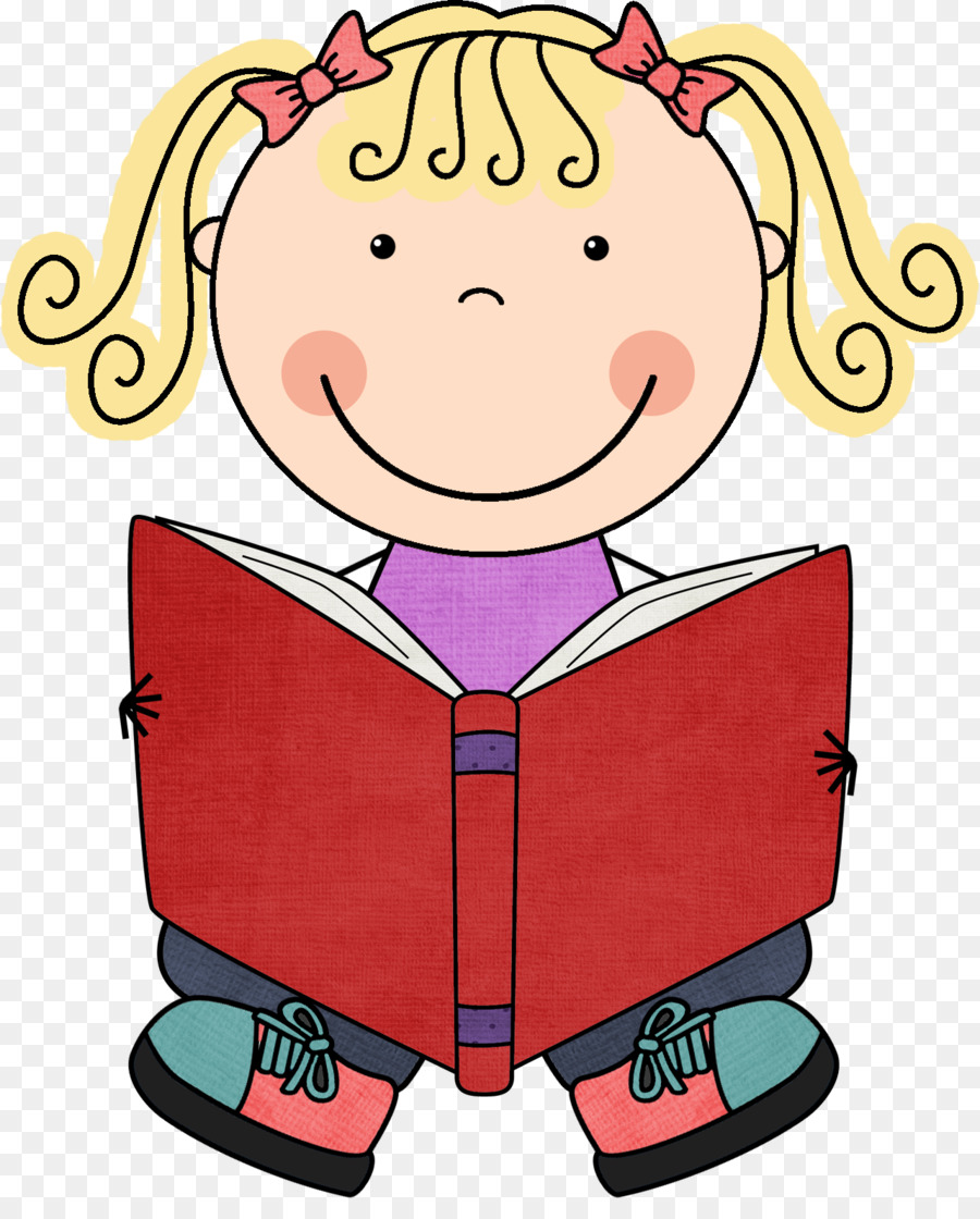 900x1120 Student Independent Reading Clip Art
