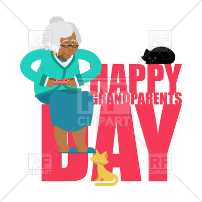 400x400 Grandparents Day. Day Of Grandmother And Grandfather. Royalty Free
