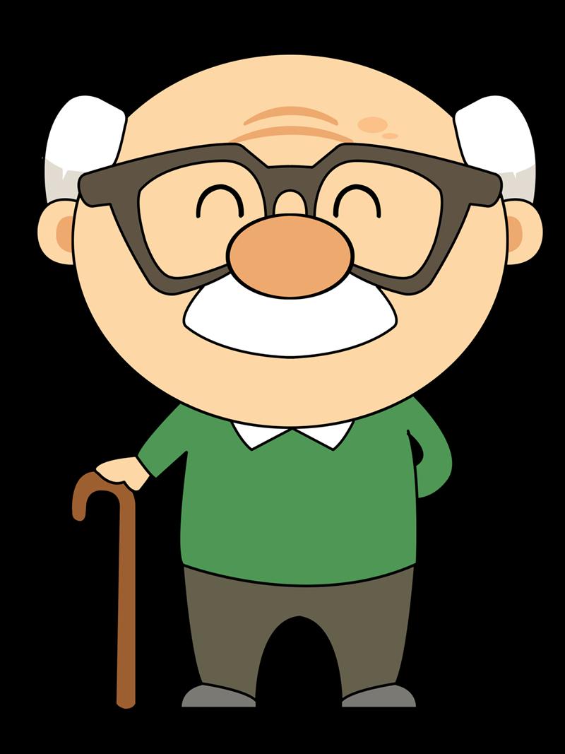 800x1067 Cartoon Grandfather Clipart