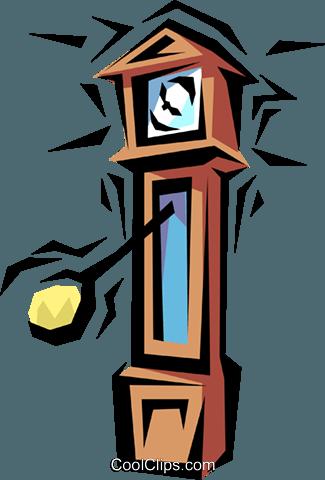 325x480 Grandfather Clock Royalty Free Vector Clip Art Illustration