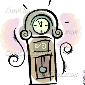 300x300 Grandfather Clock Vector Clip Art