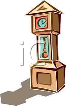218x350 Picture Of A Grandfather Clock In A Vector Clip Art Illustration