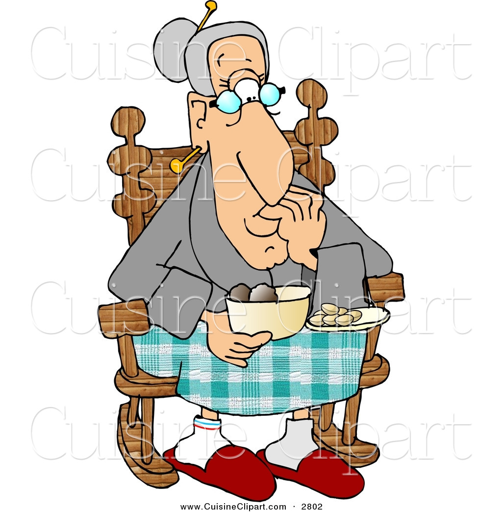 1024x1044 Cuisine Clipart Of A Grandma Eating Food While Sitting In Her