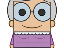 220x165 Funny Grandma Clipart Cartoon Funny Granny Playing Skateboard