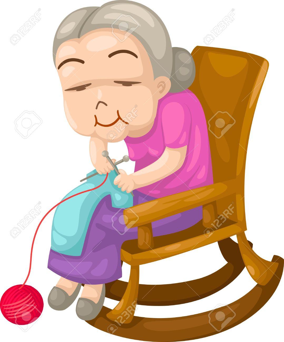 1078x1300 Grandmother Knitting Clipart