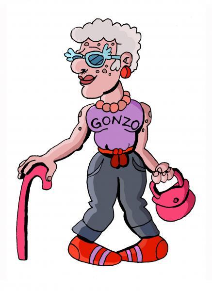 437x600 Cartoon Grandma Images