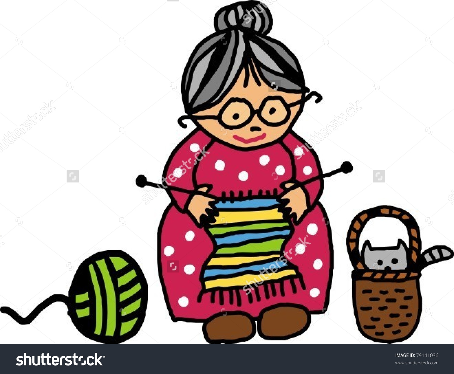 1500x1236 Knitting Grandma Clipart, Explore Pictures