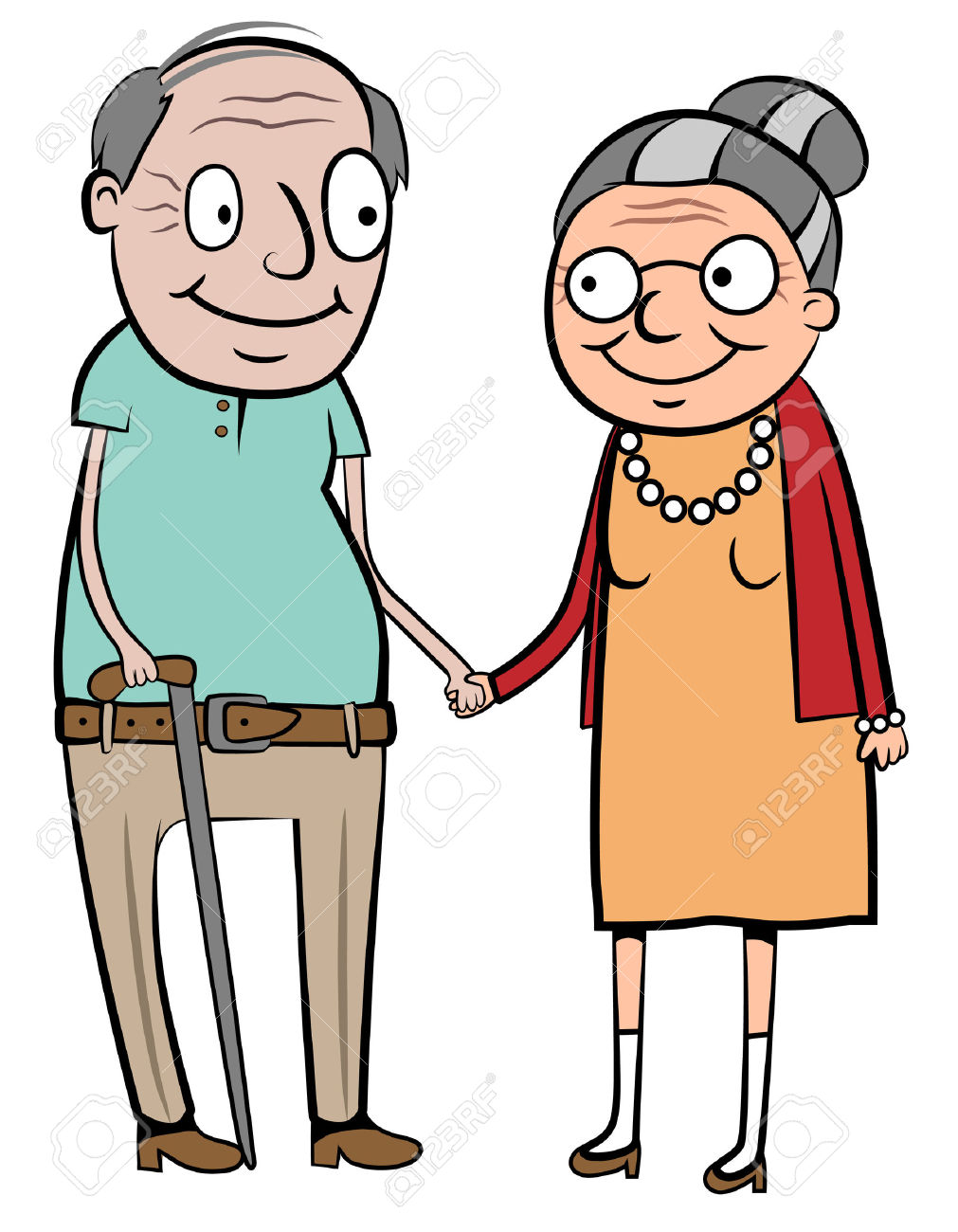 1011x1300 Old Married Couple Clipart