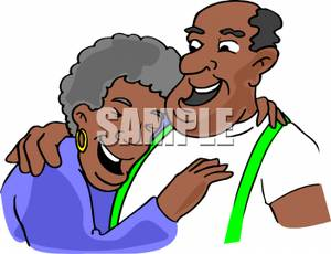 300x230 African American Grandparents Clipart