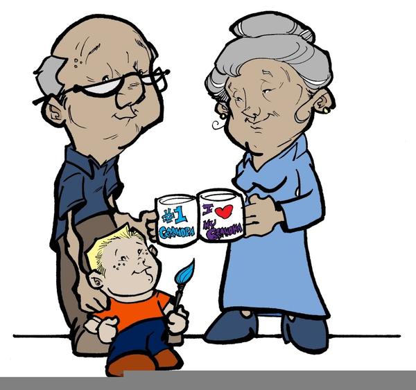600x563 Free Clipart Grandparents Grandchildren Free Images