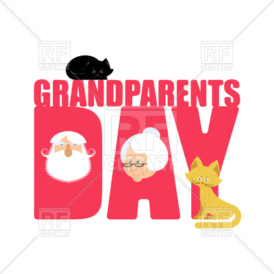 400x400 Grandparents Day Poster With Grandmother And Grandfather Portrait
