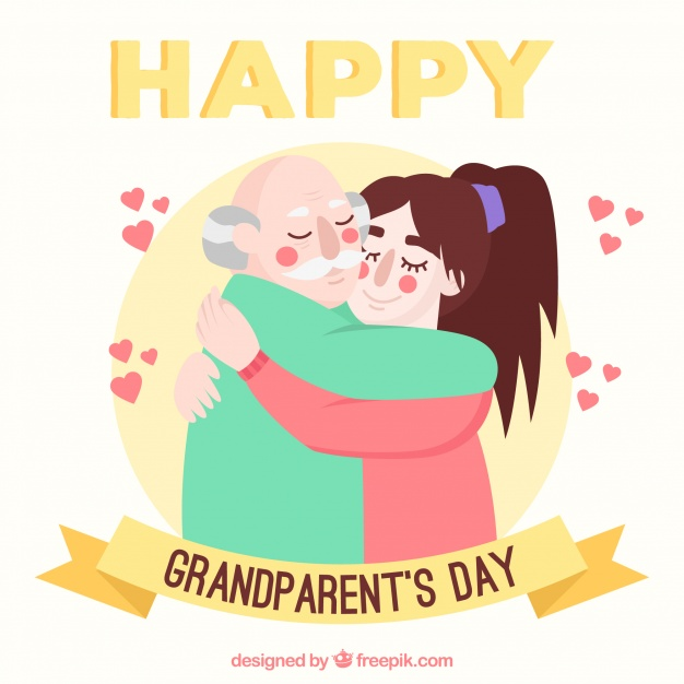 626x626 Grandparents Day Background With A Tender Hug Vector Free Download