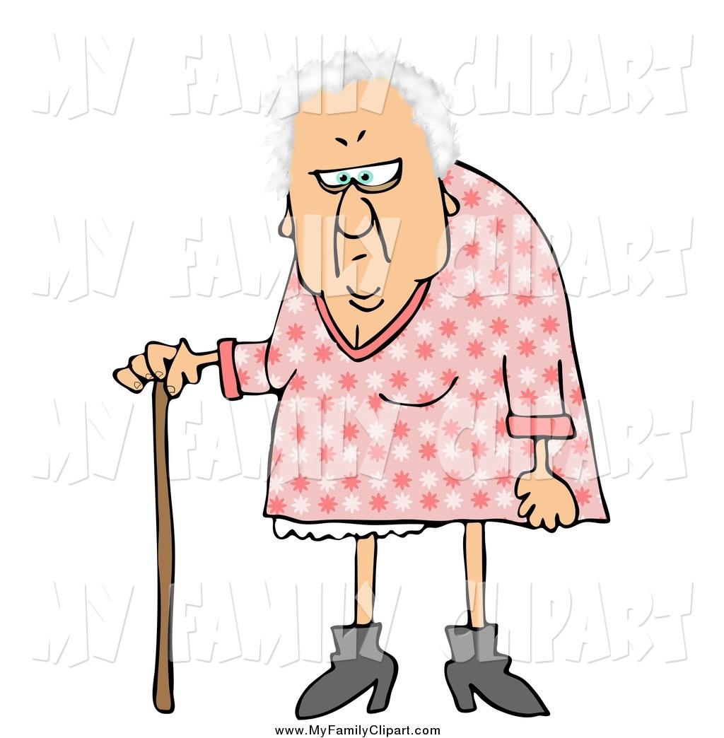 1024x1044 Clip Art Of A Grumpy Granny With A Cane By Djart