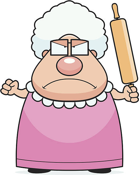 486x612 Collection Of Angry Grandma Clipart High Quality, Free