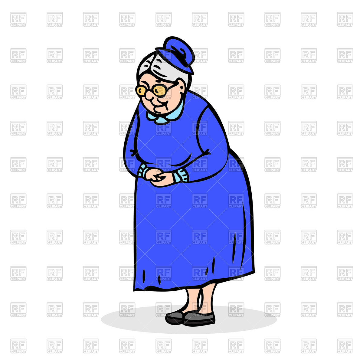 1200x1200 Grandmother With Cat Body. Cat With Grandma Head. Royalty Free