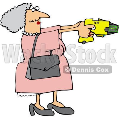 400x400 Royalty Free (Rf) Clip Art Illustration Of A Granny Defending