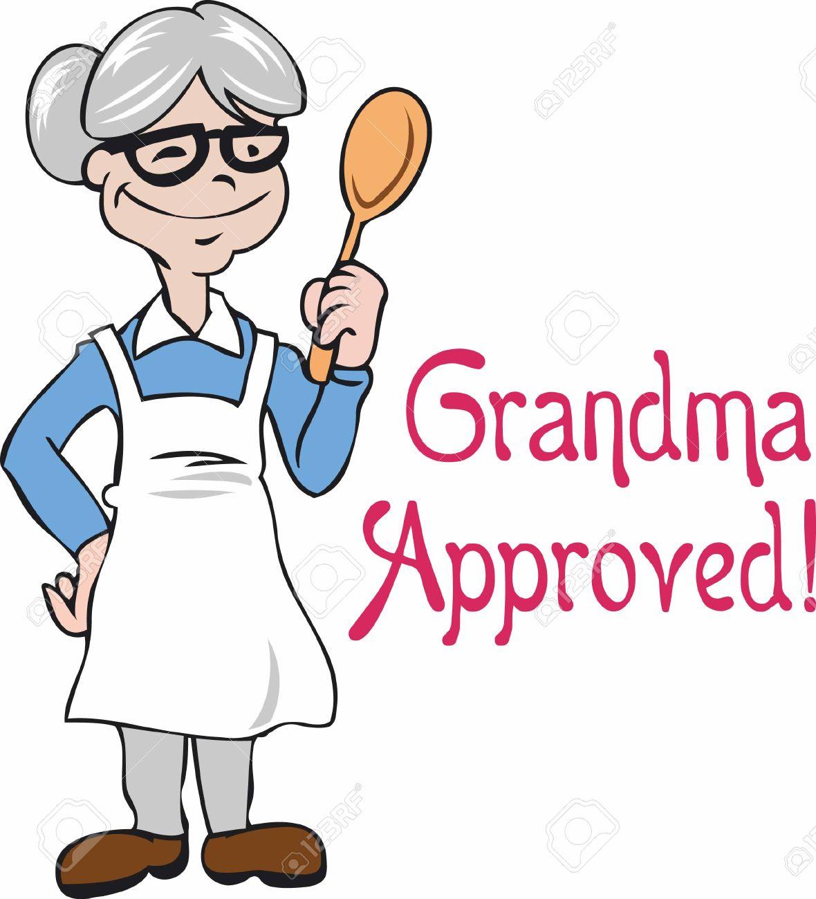 1180x1300 Cute Grandma Cooking Clipart