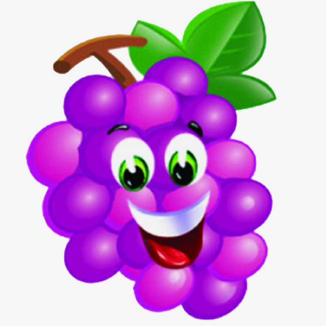 650x651 Purple Grape Smiley, Purple Grape, Smile, Cartoon Grapes Png Image