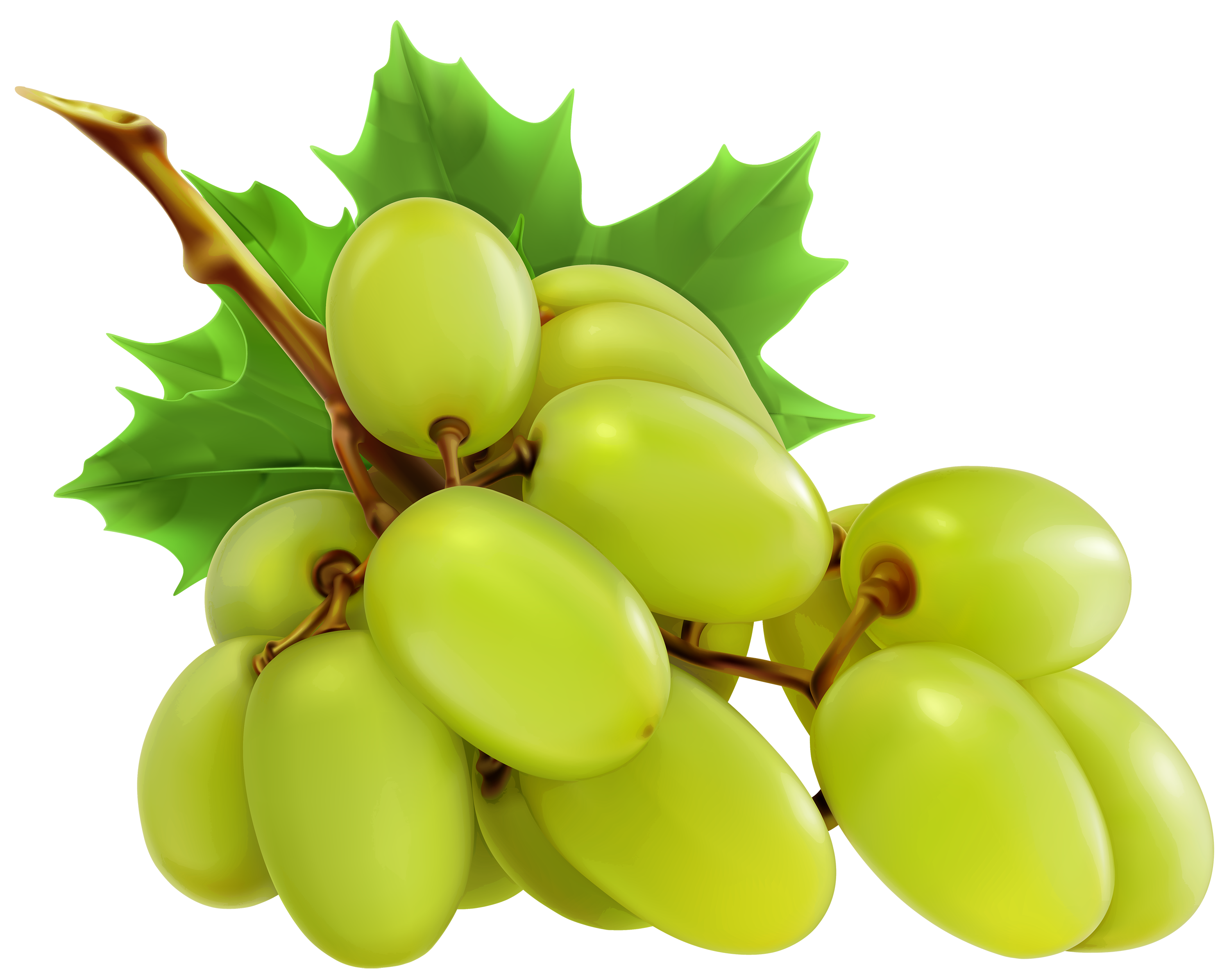 3000x2393 White Grapes Png Clipart