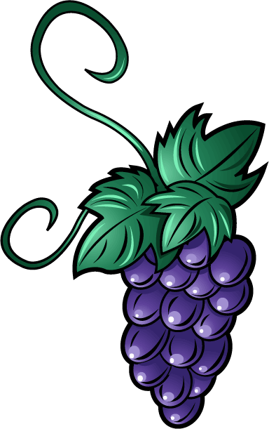 384x611 Free Clip Art Food Fruit Bunch Of Grapes