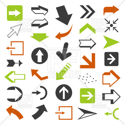 400x400 Collection Of Web Design Arrows Royalty Free Vector Clip Art Image