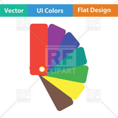 400x400 Color Samples Icon, Flat Color Design Royalty Free Vector Clip Art