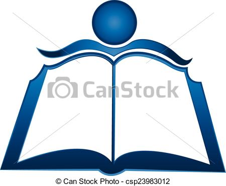450x370 Student And Book Logo Vector Clip Art Search Illustration Symbol