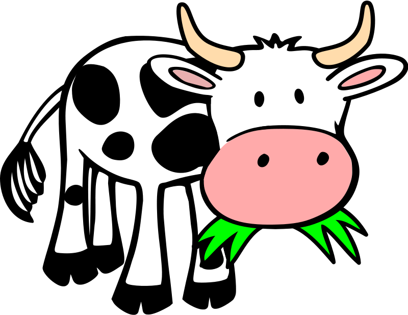 800x617 Free Clipart Grass Eating Cow Onsemeliot