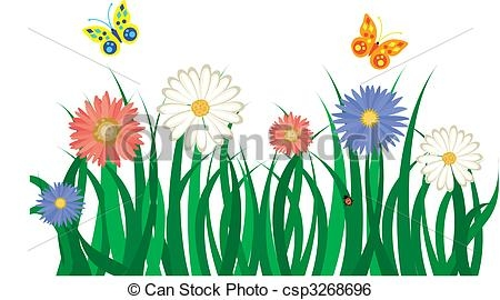 450x270 Grass With Flowers Clip Art