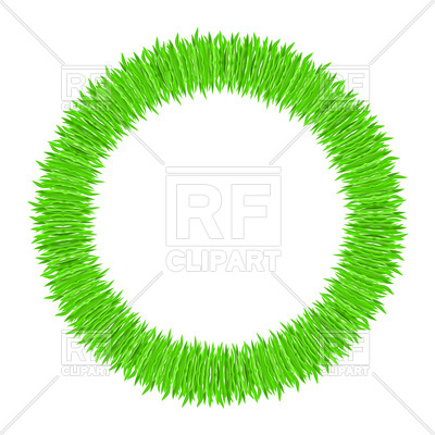 400x400 Green Ring Of Grass Royalty Free Vector Clip Art Image