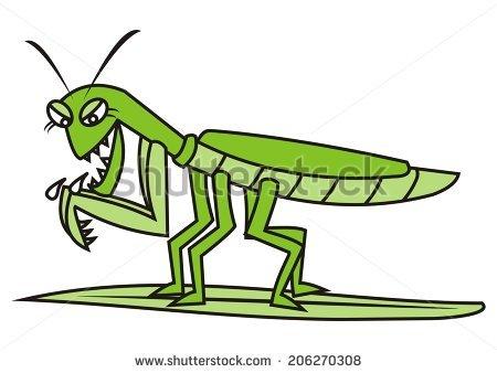 450x338 Grasshopper Clipart Scared