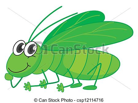450x337 Illustration Of A Smiling Grasshopper On A White Background Vector
