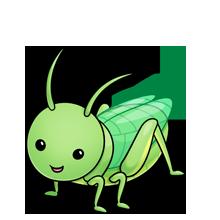 220x220 Grasshopper Fluff Favourites Clip Art, Kawaii
