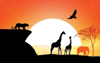 400x253 Free Sunset View Of Safari Clipart And Vector Graphics