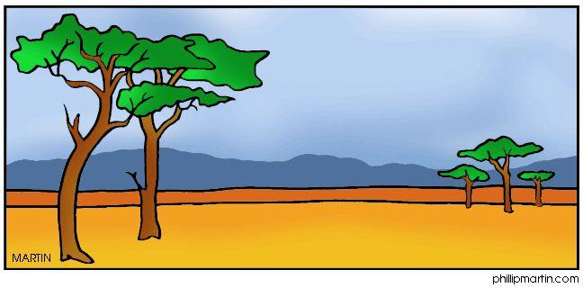 648x320 Grassland Biome Clipart