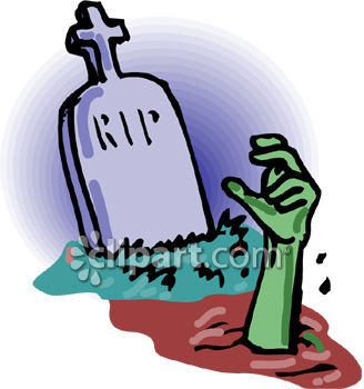328x350 Royalty Free Clip Art Image A Zombie Hand Coming Out Of A Grave