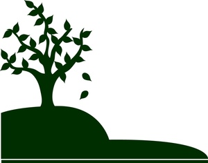 300x236 Top Of Grave On Hill With Tree Clipart