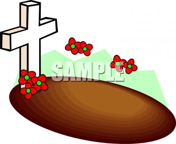 350x287 Cartoon Grave With A Cross Marker