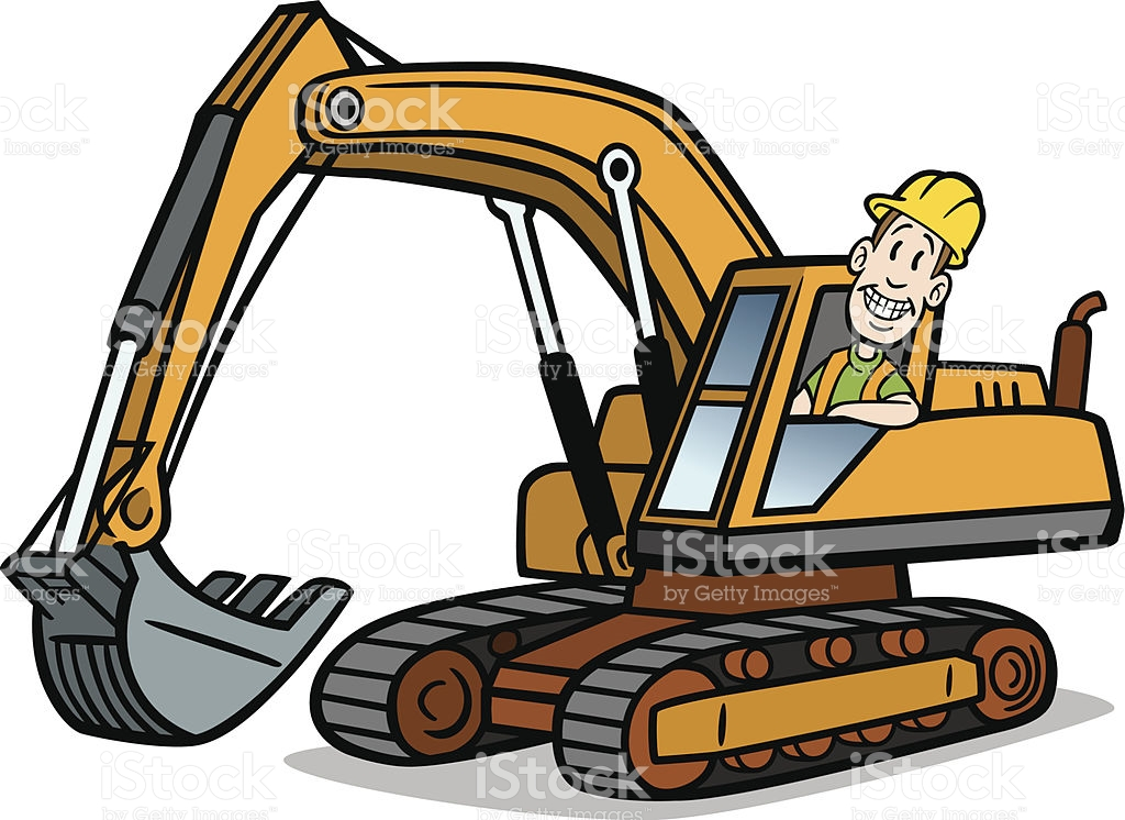 1024x746 Digger Outline 18 Best Construction Coloring Pages Images