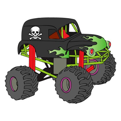400x400 Collection Of Monster Truck Grave Digger Clipart High