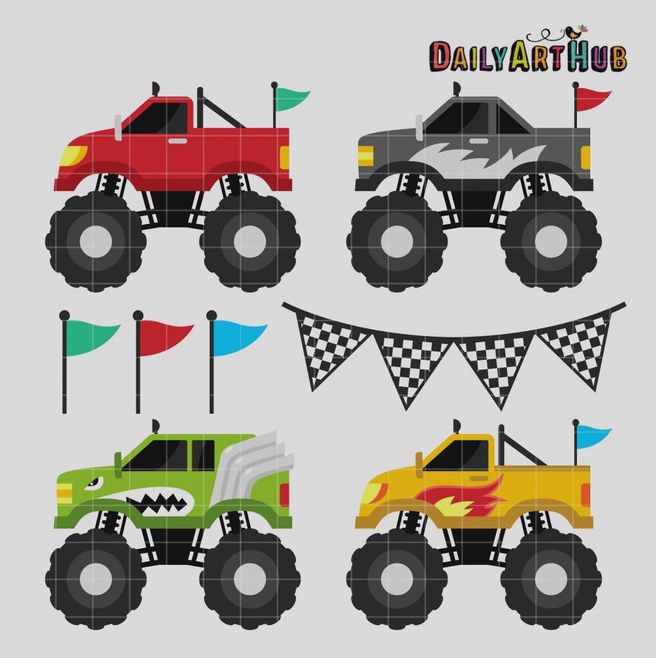 938x940 Amazing Of Monster Truck Clip Art 24343 Trucks