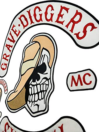338x450 Top Quality Grave Diggers Mc Club Biker Vest