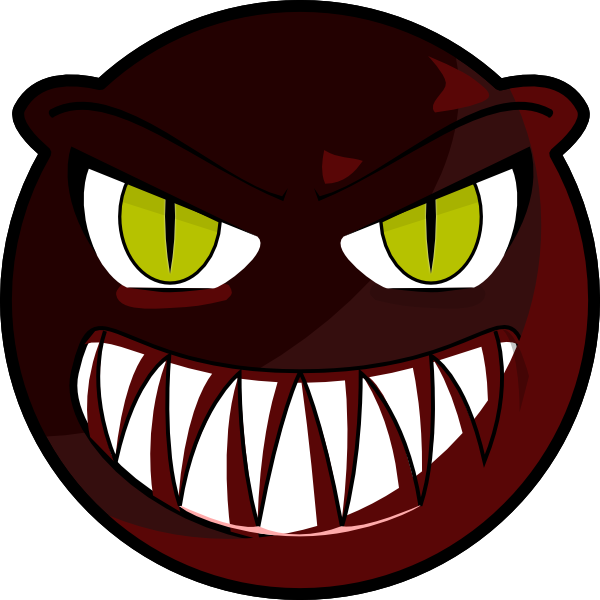 600x600 Monster Face Clipart