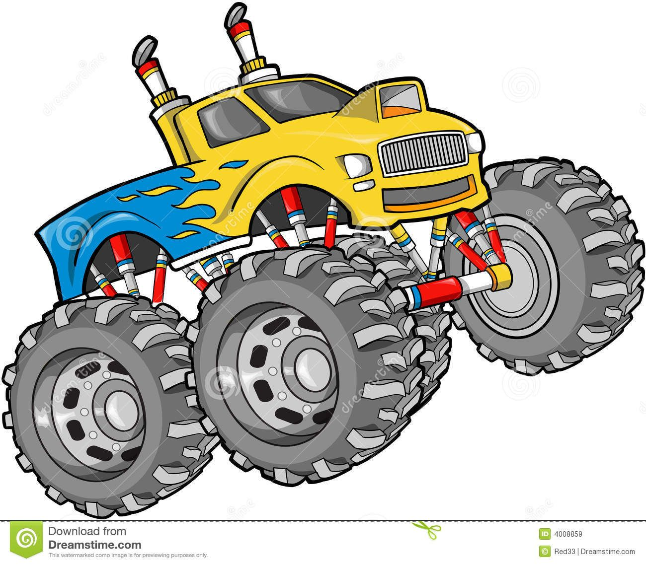 1300x1138 Monster Truck Illustration Stock Photography