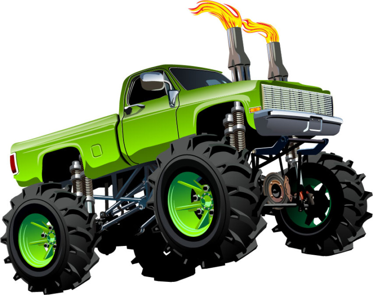768x608 Monster Truck Wall Decals