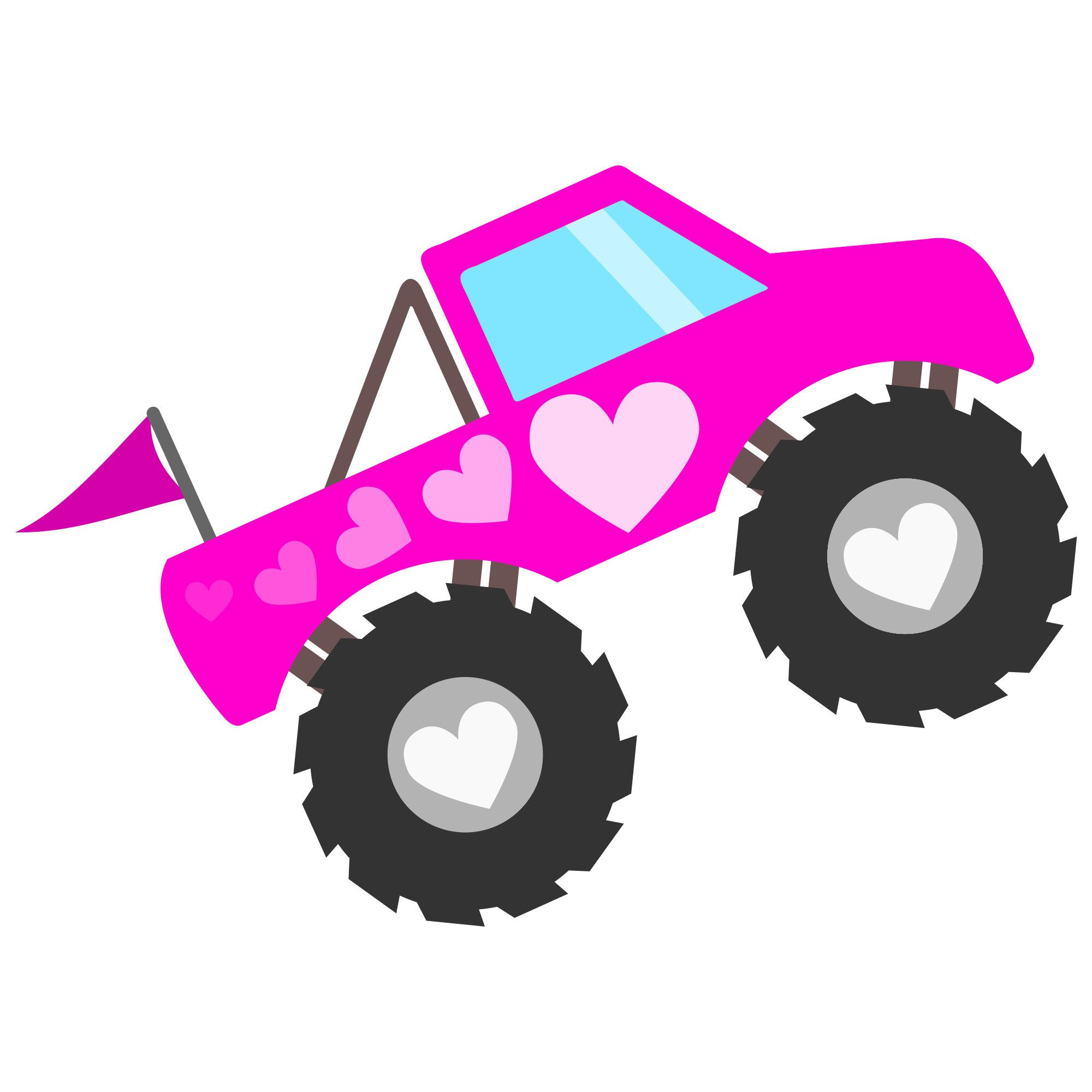 2000x2000 Pink Monster Truck For Girls Svg Svg Files And Printable