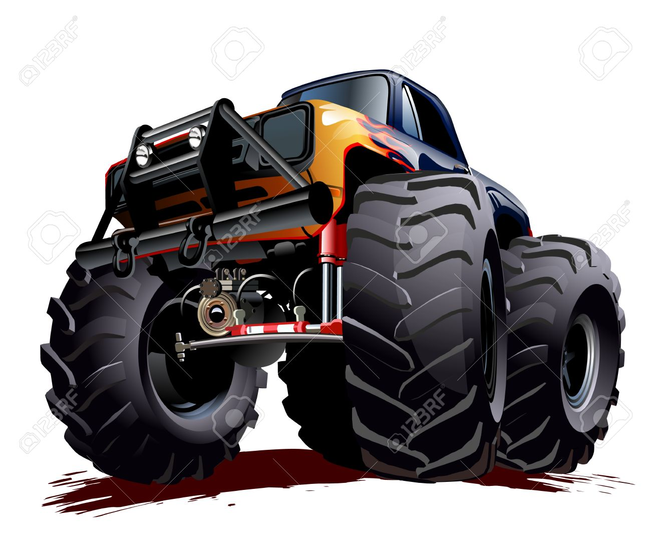 1300x1070 Race Car Monster Truck Clipart Collection