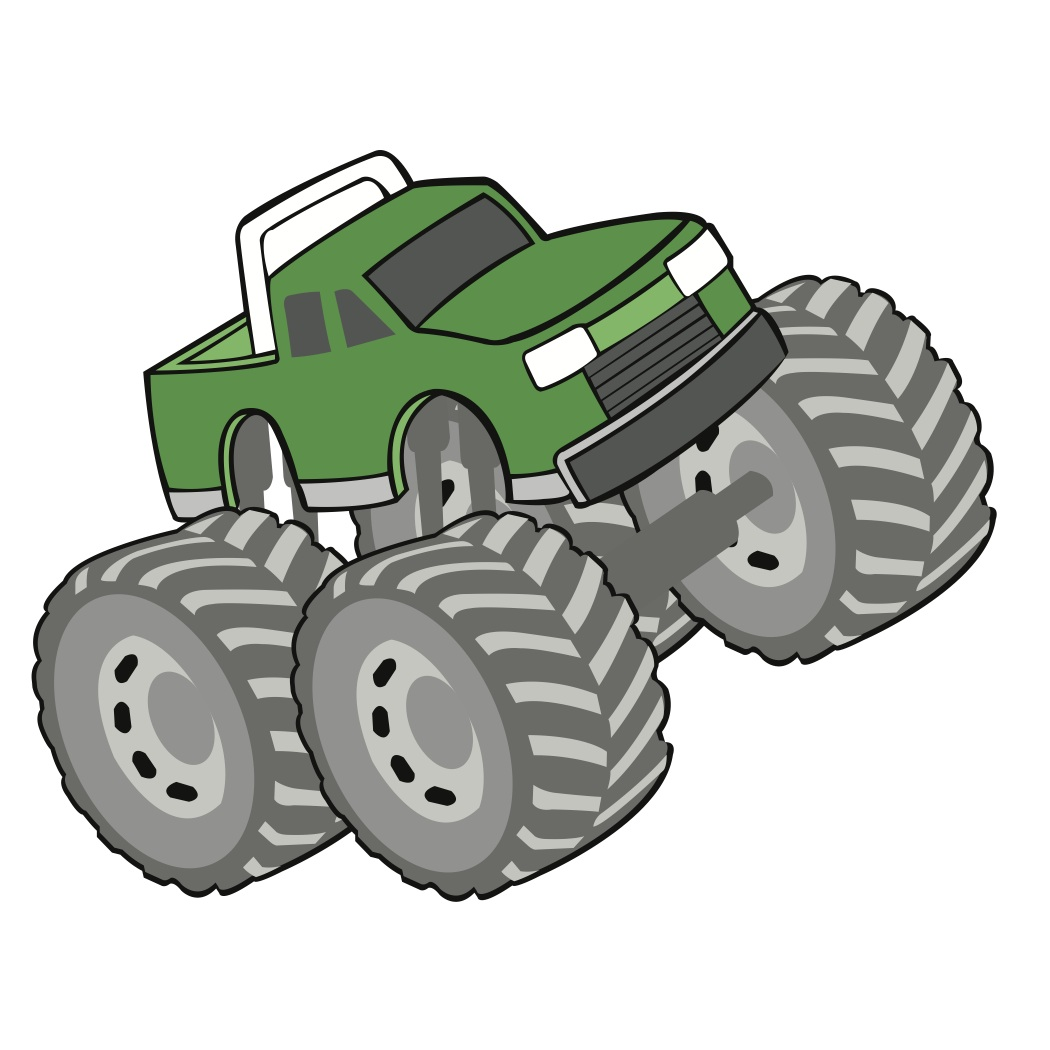1050x1050 Blaze Monster Truck Svg